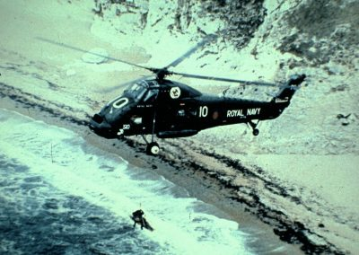 One of my 772 squadron aircraft doing a beach rescue