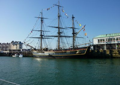 A tall ship in Weymouth
