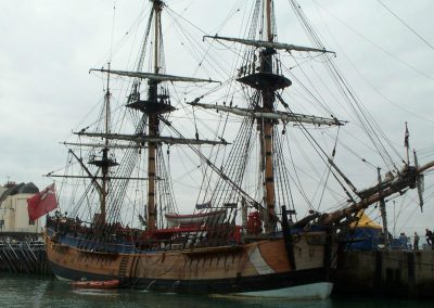 Mayflower replica in Weymouth